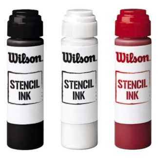 "Stencil Ink ""Wilson"", 3 different colors - black, white and red"