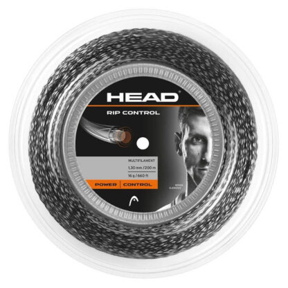 Reel with tennis string - string colour is black and white pattern