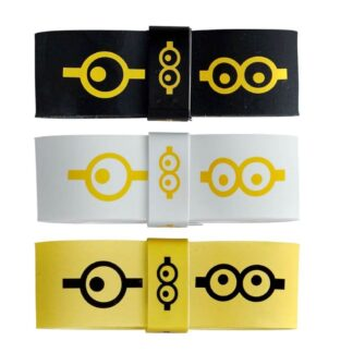 Overgrips in Yellow, Black and White with ikons of the adorable Minions