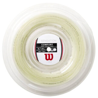 Reel with white tennis string