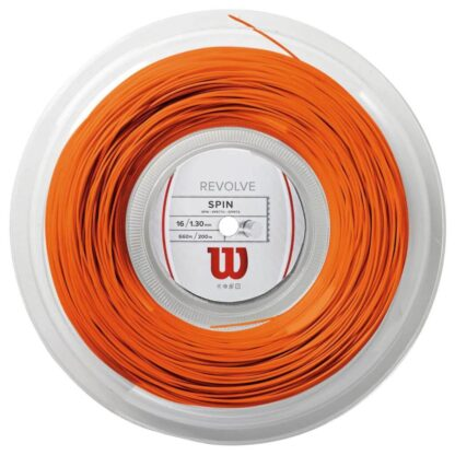 Reel with orange tennis string