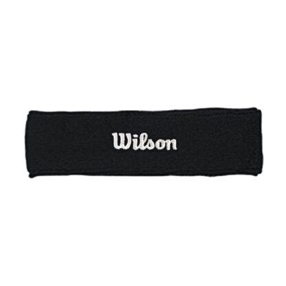 "Headband, black with white ""Wilson"""