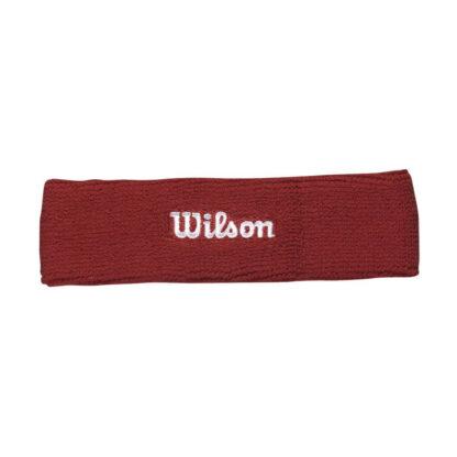 "Headband, red with white ""Wilson"""