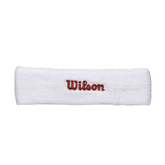 "Headband, white with red ""Wilson"""