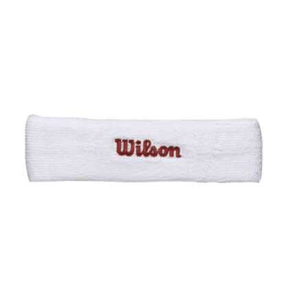"Headband, white with red ""Wilson"""
