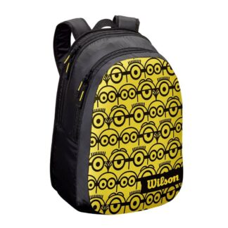 Backback JR - yellow front and bag with black Minions (icons)