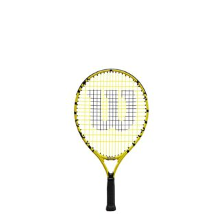 "Junior tennis racquet (19"") with Minions icons."