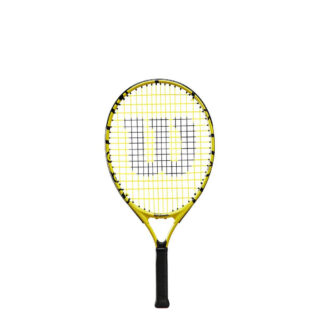 "Junior tennis racquet (21"") with Minions icons."