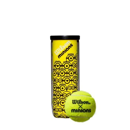 """Can with Minions icons and one tennis ball with """"Wilson x Minions"""""""