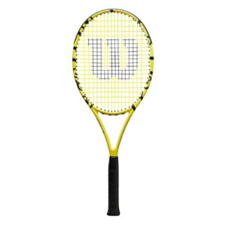 Tennis racquet with Minions icons.