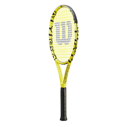 Tennis racquet with Minions icons (side view)