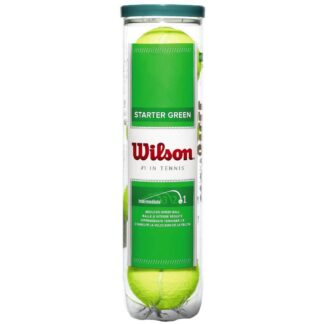 """Can with 4 tennis ball - can displays """"Starter green"""" Wilson """" 1 in tennis"""""""
