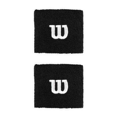 Wristband - black with white W (Wilson)