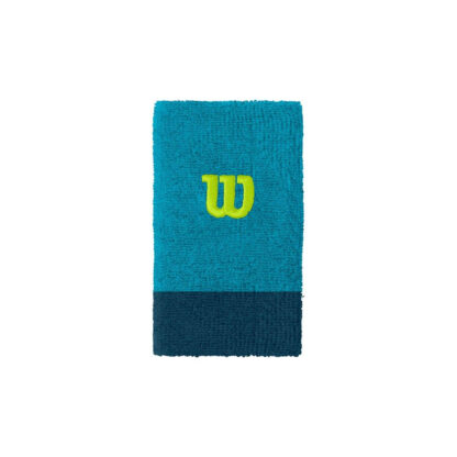 """Wide wristband, 2 colors (light and dark blue) and """"W"""" for Wilson"""